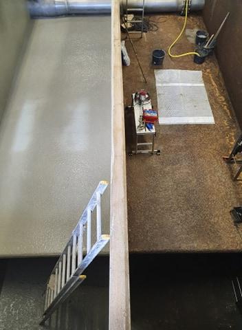 Vattentäta betong med kristallisering